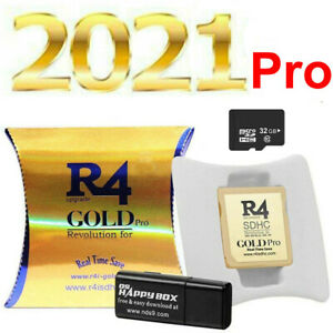 2021 R4 Gold Pro SDHC for DS/3DS/2DS/ Revolution Cartridge 32G Card+500 Game FR