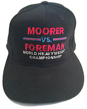 George Foreman vs. Michael Moorer Vintage Baseball Boxing Fight Cap Brand New