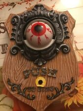 Halloween Door Bell Animated Talking Eye Creeping Sounds Prop Yard Decor Wreath