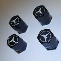 Set aus 4 Ventilkappen Mercedes Benz - Schwarz - Metall - Auto - Performance