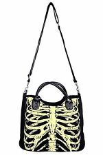 Banned Apparel Glow in Dark Skeleton Skull Gothic Punk Shoulder Bag Purse BBN733