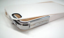GRAFT CONCEPTS Leverage iPhone 4/4S Case - WHITE w/ CHROME Latch NWOB Bumper