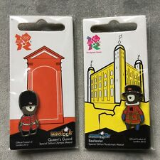 WENLOCK QUEENS GUARD & MANDEVILLE BEEFEATER PIN BADGES London 2012 Olympic Games