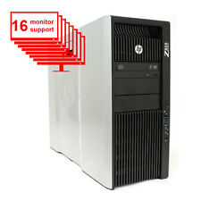 HP Z820 Multi Display 16-Monitor Computer/ PC 12-Core/ 24GB /1TB / NVS450/ Win10