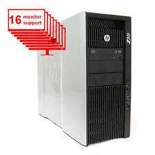HP Z820 Multi Display 16-Monitor Computer/ PC 12-Core/ 24GB /1TB / NVS450/ Win10