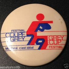 Vintage 1979 Montreal 67th CFL Grey Cup Olympic Stadium pin pin-back button