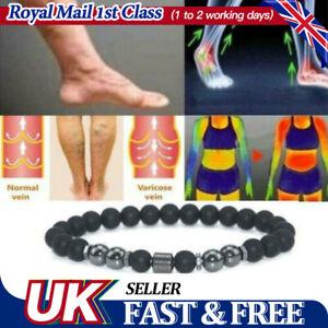 Mens Adjustable Anti Swelling Black Obsidian Bracelet Weight Loss Magnet Anklet