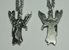 Archangel St Rafael Raphael Angel Charm Medal &Chain Healing Medical Professions