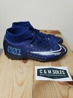 Nike Mercurial Superfly 7 Academy MDS FG/MG Blue Soccer Cleats Size 7 M