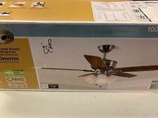 "Devron 52"" LED Indoor Brushed Nickel Ceiling Fan with Light Kit"