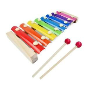 Eight-Tone Piano Early Education Toy Baby Kid Musical Musical Wooden W1Q4