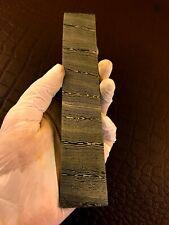 More details for handmade damascus steel billet bar-razor-tool making supplies-annealed-db45