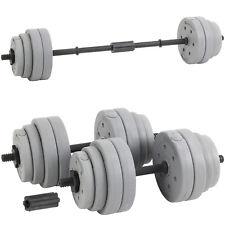 Hardcastle Verstellbar Gewichte Set für Kurz und Langhanteln Hantel 30 kg Silber