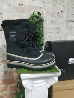 NIB Sorel Men's Caribou Black Tusk Winter Boots -40C/-40F Waterproof  Pick Size