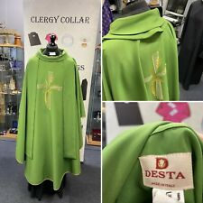 More details for green chasuble & stole - italian made company desta - very nice embroidery