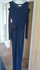 STUNNING, LONG, BLACK,SEXY, CUT AWAY DRESS SIZE SMALL, 10