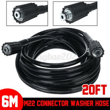 More details for 6m high pressure washer extension hose pipe tube cleaner replacement m22 to m22