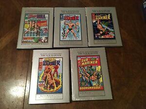 Marvel Masterworks Sub-Mariner Volumes 1 2 3 4, 6  [Lot of 5 Hardcovers.