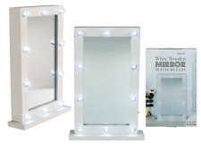 WHITE MIRROR LED STANDING DRESSING MIRROR MAKEUP HOLLYWOOD CHIC Valentines GIFT