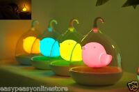 LED Birdcage nightlight kids childrens bedrooms Nursery Blue Pink Yellow Orange