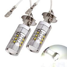 2 X Car CREE 80W LED SMD H3 Super Bright White Fog Tail DRL Head Light Lamp Bulb