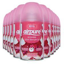 12 X AIRPURE FRESHMATIC AUTOMATIC SPRAY REFILLS 250ML TRUE ROMANCE AIRWICK