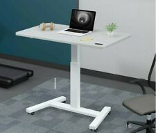 Electric Height Adjustable Sit Stand Desk mobile office wheels table