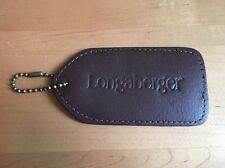 Longaberger Leather Luggage Tag