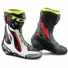 Motorcycle Race Boot > TCX RT-Race Air Sport Armoured - White / Red / Yellow