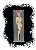 "Erte ""Number 1"" Rare Art Deco LITHOGRAPH"