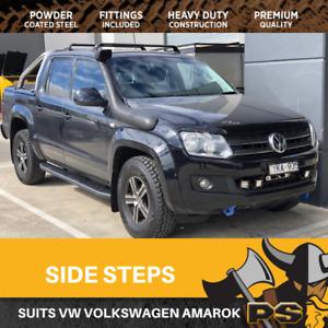 Steel Side Steps for Volkswagen Amarok 2010-2020 Running Boards Sidesteps