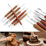 6pcs Clay Sculpting Wax Carving Pottery Tools Polymer Ceramic Modeling Tool Set