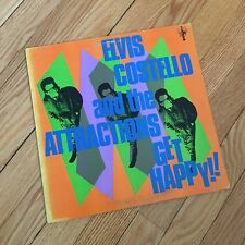 ELVIS COSTELLO & THE ATTRACTIONS 'Get Happy!!' Vintage vinyl record in VG/VG+