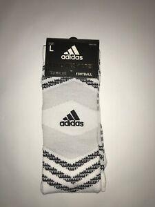 Adidas CLIMALITE Football Socks - White - Lg - 1 Pair