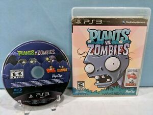 Plants vs. Zombies (Sony PlayStation 3, 2011) Tested & Working