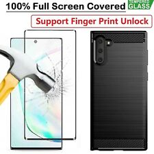 Samsung Galaxy Note 20 10 Ultra 5G Case Armour Cover+ Tempered Glass Screen Film