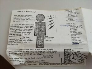 Joy Division Demos 1978 Cassette Tape-Warsaw LP,Ideal for Living,Factory Sample