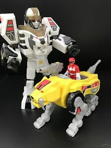Imaginext Power Rangers White Tiger Sabretooth Zord Red MMPR Action Figures