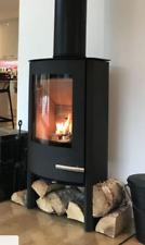 Woodburning Stove Contemporary Termatech TT20 Streamline Defra & Ecodesign BLACK