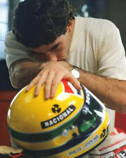 Ayrton Senna F1 Legend Yellow Helmet 10x8 Photo