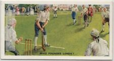 Lord's Cricket Ground London England 75+ Y/O Trade Ad Card