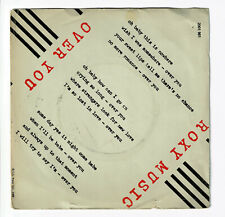 "ROXY MUSIC Disque Vinyle 45 tours SP 7"" OVER YOU - MANIFESTO - POLYDOR 2001961"