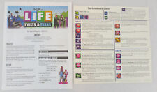 Instruction Manual for The Game of Life: Twists and Turns plus Quick Rules card