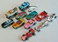 Vintage Lot of 12 Hot Wheels Matchbox Majorette & Other Diecast Cars