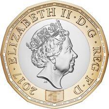 England 2017 12-Sided £1 One Pound Bi-metallic Coin aUNC
