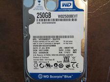 """Western Digital WD2500BEVT-35A23T0 DCM:HECTJHBB 250gb 2.5"""" Sata Hard Drive"""