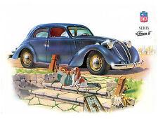 Plaque métal 15x20cm Simca 8 Sedan