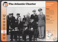 PRESIDENT FDR ROOSEVELT and WINSTON CHURCHILL WW2 Atlantic Charter GROLIER CARD