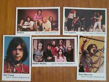 Vintage Rock And Pop Cards Bundle All Ex C Led Zeppelin Neil Young Roxy Music