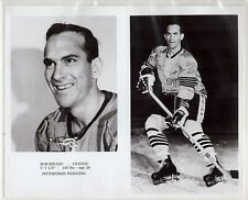 BOB RIVARD 1967-68 PITTSBURGH PENGUINS ORIGINAL TEAM ISSUE 8x10 NHL PHOTOGRAPH